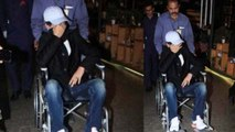 Irrfan Khan spotted at Mumbai airport in wheelchair; Check out here | FilmiBeat