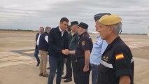 Sánchez aterriza en Alicante para visitar zonas afectadas por temporal