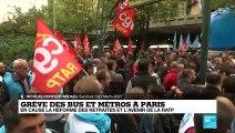 Les agents de la RATP veulent mettre fin au projet du gouvernement pour les retraites