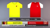 Match Preview: Watford vs Arsenal on 15/09/2019