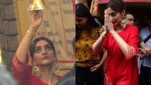 Sonam Kapoor seeks blessings at Shani Temple for success of he Zoya Factor | FilmiBeat