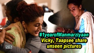 #1yearofManmarziyaan | Vicky, Taapsee share unseen pictures