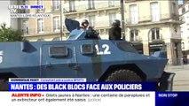 Nantes  les forces de lordre déploient les blindés tandis que la tension continue de monter