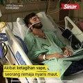 Remaja hidup dengan paru-paru 70 tahun akibat vape