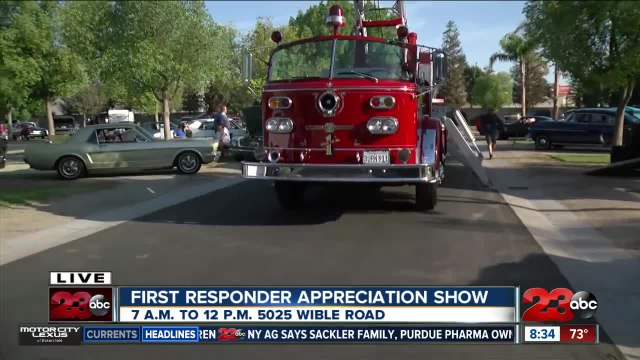 5th Annual First Responder Appreciation Day car show