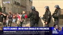 Gilets jaunes: un retour émaillé de violences à Nantes