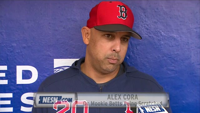 Alex Cora Explains Why Mookie Betts Was Scratched From Saturday's Lineup