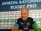 Yannick Bru statisfait du début de saison de l'Aviron Bayonnais