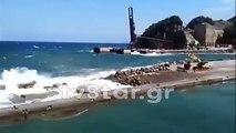 Νέες ζημιές στο Λιμάνι Μαντουδίου