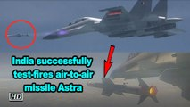 India successfully test-fires air-to-air missile Astra