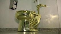 Goldene Toilette aus Schloss in England gestohlen