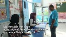 Tunesier wählen neuen Präsidenten - Ausgang offen