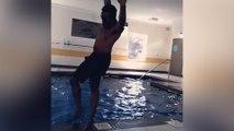 Quand on danse à la piscine