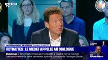 Geoffroy Roux de Bézieux, président du Medef, appelle au dialogue sur la réforme des retraites