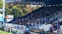 La Lazio entra per il riscaldamento
