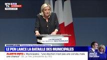 """Marine Le Pen: """"Les Français nous ont conféré une lourde responsabilité, celle d'incarner l'opposition et de la faire vivre"""""""