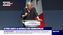 """Marine Le Pen: """"Il faut lutter contre le sentiment de dépossession et de spoliation du patrimoine national"""""""