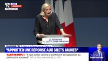 """Marine Le Pen: """"Nous devons apporter une réponse au mouvement des gilets jaunes, il faut conclure la paix fiscale"""""""