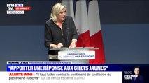 """Marine Le Pen invoque """"la logique du localisme"""" pour les municipales de 2020 et veut """"faire descendre le pouvoir vers les citoyens"""""""