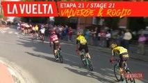 Valverde devant, Roglic dérrière / Valverde in front Roglic at the back - Étape 21 / Stage 21 | La Vuelta 19