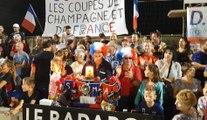 Ambiance dans au milieu des supporters du SUMA lors de la finale de la Coupe de France