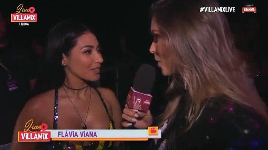 Flávia Viana entrevista Simaria - Villa Mix Lisboa 13.09.2019