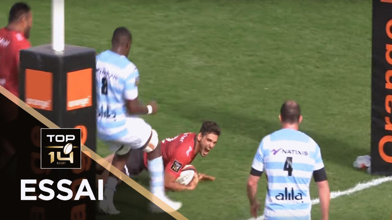 TOP 14 - Essai Julien HERITEAU (RCT) - Toulon - Racing 92 - J4 - Saison 2019/2020