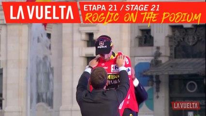 Roglic sur le podium / Roglic on the podium - Étape 21 / Stage 21 | La Vuelta 19