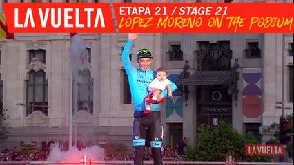 Lopez Moreno sur le podium / Lopez Moreno on the podium - Étape 21 / Stage 21 | La Vuelta 19