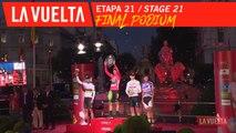 Podium final / Final podium - Étape 21 / Stage 21 | La Vuelta 19