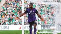 Le but d'Aaron Leya Iseka face à Saint-Étienne
