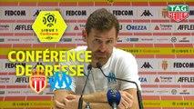 Conférence de presse AS Monaco - Olympique de Marseille (3-4) : Leonardo JARDIM (ASM) - André VILLAS BOAS (OM) / 2019-20