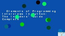 Elements of Programming Interviews in Python: The Insiders' Guide Complete