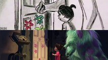 Pixar Side-by-Side - Sulley and Boo's Goodbye From Monsters, Inc.