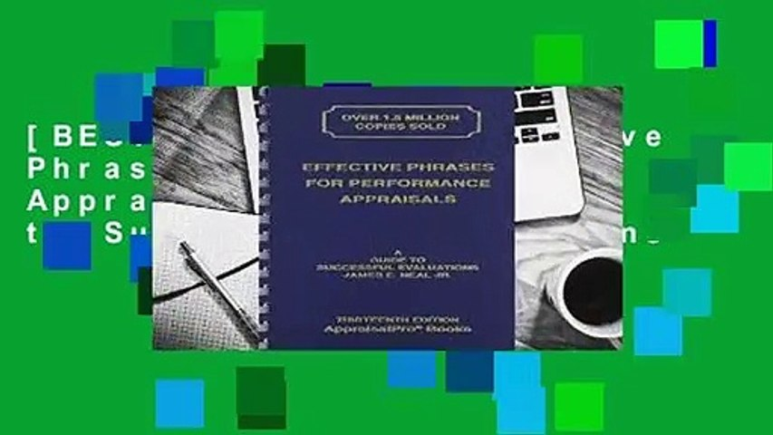 [BEST SELLING]  Effective Phrases for Performance Appraisals: A Guide to Successful Evaluations