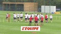 L'entraînement des Parisiens avant PSG - Real Madrid - Foot - C1 - PSG