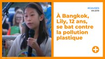 À Bangkok, Lily, 12 ans, se bat contre la pollution plastique