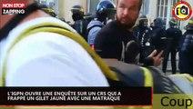 Un CRS frappe un Gilet jaune au visage avec sa matraque, l'IGPN enquête (vidéo)