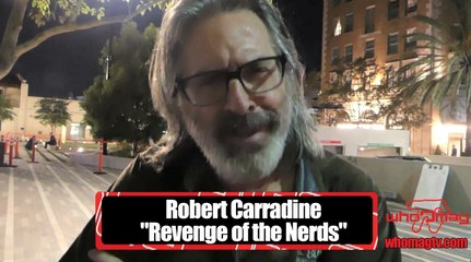 "Rob Carradine (""Revenge Of The Nerds"") interview at the ""What Death Leaves Behind"" movie premiere"