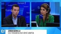 """Jordan Bardella estime que """"les question sociétales devraient être traitées par référendum"""""""