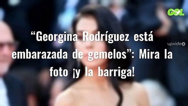 """""""Georgina Rodríguez está embarazada de gemelos"""": Mira la foto ¡y la barriga!"""