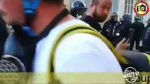Gilets Jaunes: La vidéo d'un CRS donnant un grand coup de matraque dans le visage d'un manifestant provoque des dizaines de réactions sur les réseaux sociaux