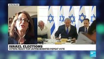 Israel voters ready for unprecedented repeat vote