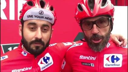 Javi Sancho y Santi Millán en La Vuelta