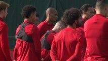 Liverpool UCL training pre Napoli