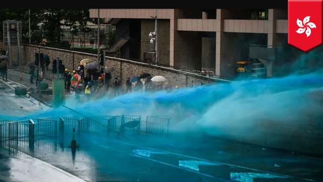 Hong Kong police fire tear gas and water cannons at demonstrators