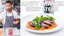 Andy Makes Skirt Steak with Romesco Sauce