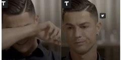 Cristiano Ronaldo llora desconsolado en plena entrevista al ver imágenes inéditas de su difunto padre