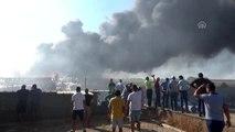 Otluk alanda başlayan yangın hurdalığa sıçradı (2)