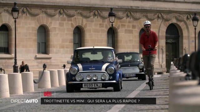 Trottinette électrique vs Mini : Qui sera la plus rapide ? - Direct Auto - 07/09/2019
